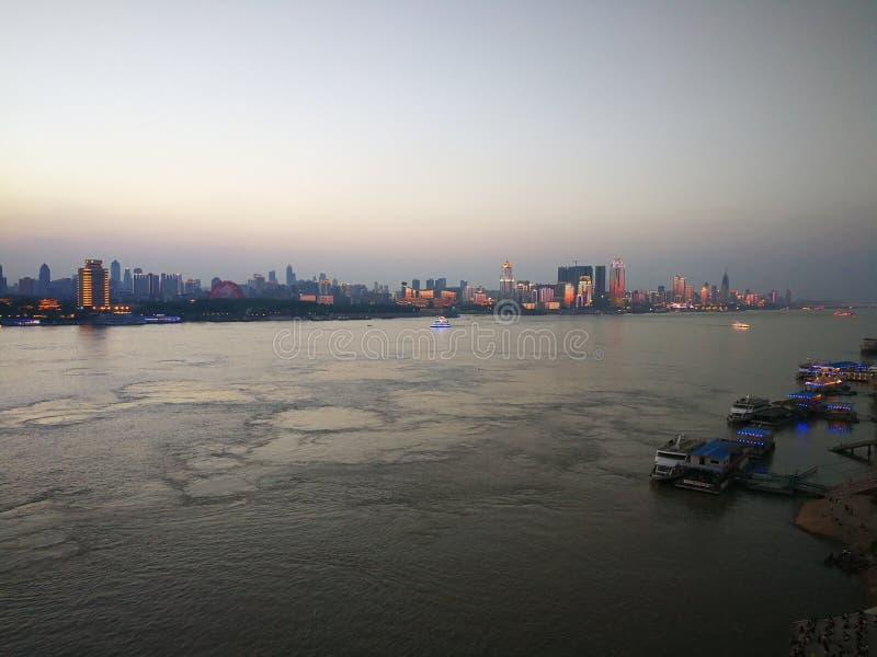 Landschap van Yangtze-rivier royalty-vrije stock foto's