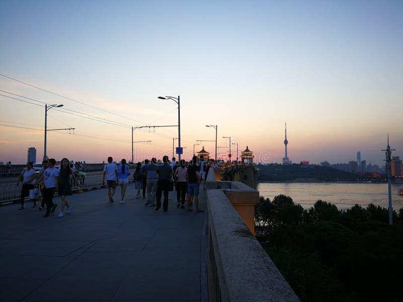 Landschap van Yangtze-rivier stock fotografie