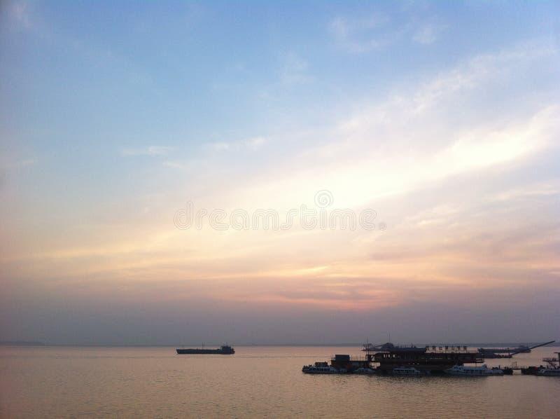 Landschap van Yueyang-Stad, de Provincie van Hunan stock fotografie