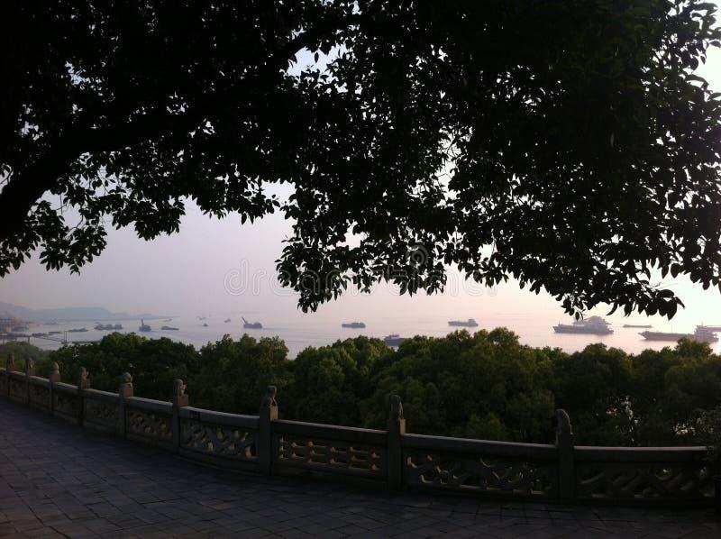 Landschap van Yueyang-Stad, de Provincie van Hunan royalty-vrije stock fotografie
