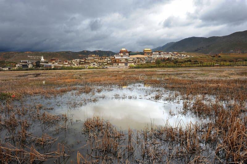 Landschap van Yunnan, China (Shangrila) royalty-vrije stock foto