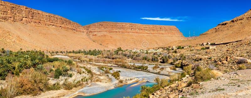 Landschap van Ziz-Vallei, Marokko stock foto