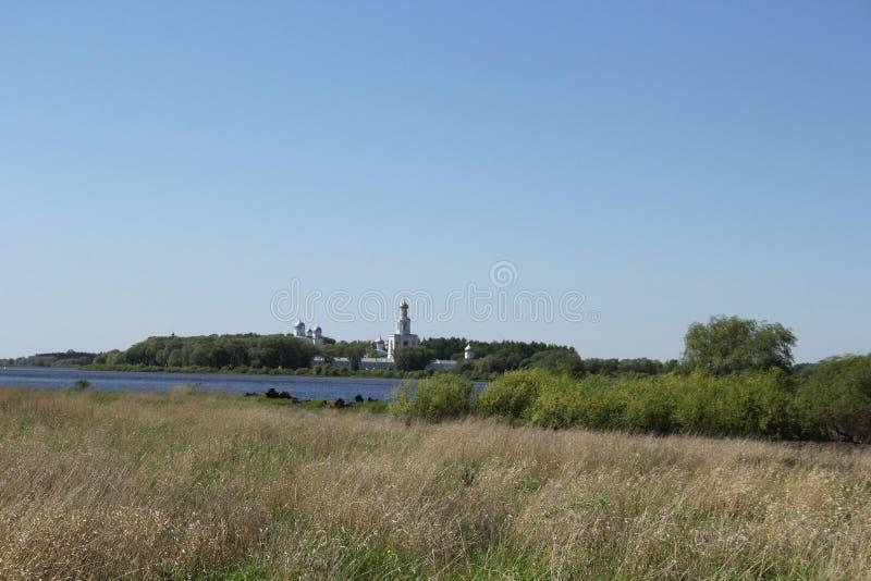 Landschap in Velikiy Novgorod stock fotografie