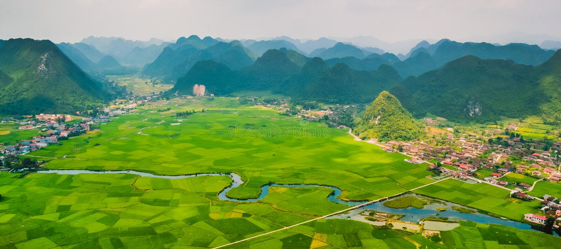 Landschap Vietnam royalty-vrije stock fotografie