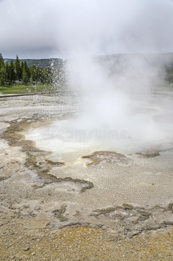 Landschap in Yellowstone royalty-vrije stock fotografie