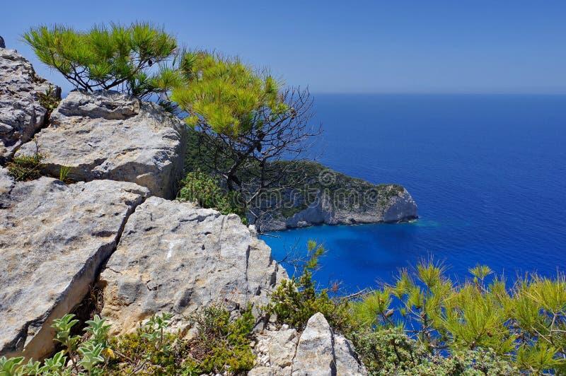 Landschap in Zakynthos, Griekenland royalty-vrije stock foto