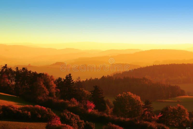 Landschap in Zuid-Bohemen stock afbeeldingen