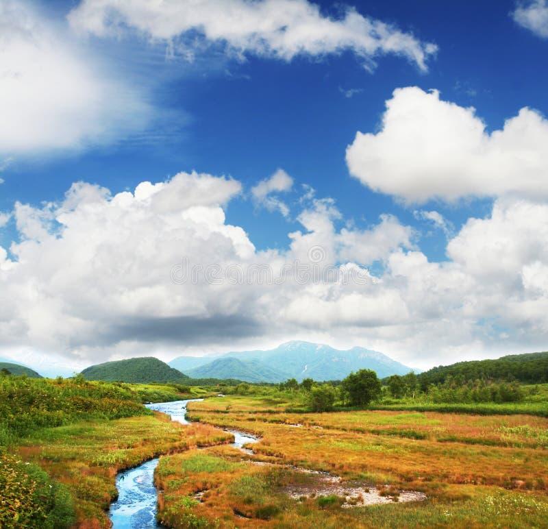 Landschappen op Kamchatka royalty-vrije stock foto