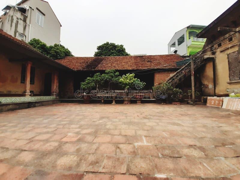 landschappen, oude huizen, Noord-Vietnam royalty-vrije stock foto