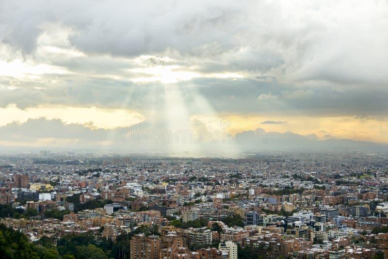Landschappen van de Heuvels van Bogota in Colombia stock afbeelding