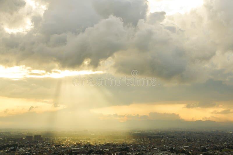 Landschappen van de Heuvels van Bogota in Colombia stock fotografie