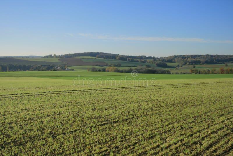 Landschappen van Frankrijk: Jambville royalty-vrije stock fotografie