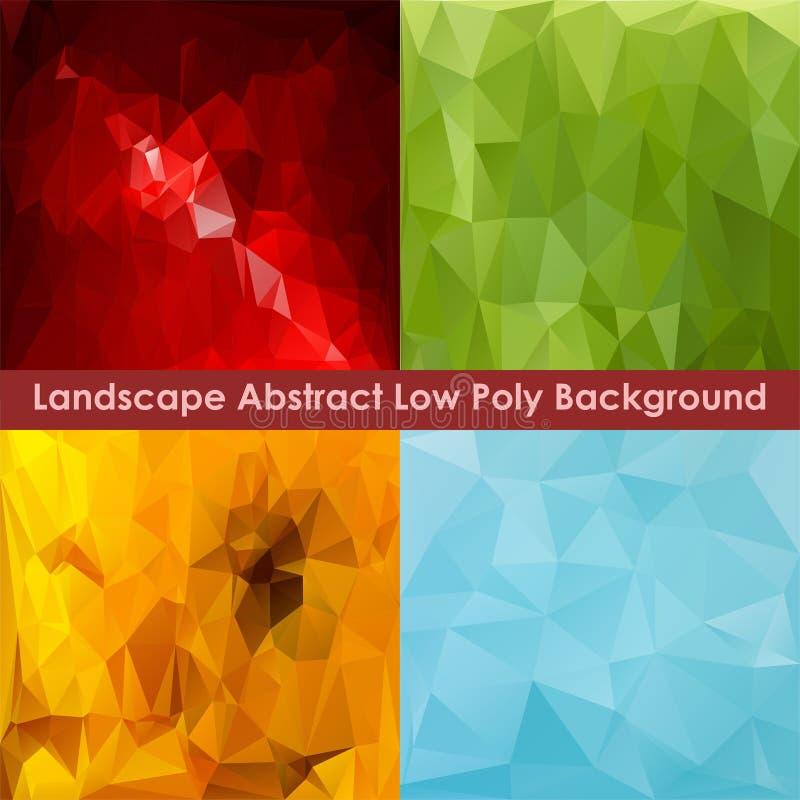 Landschaps Abstracte Lage Polyachtergrond 1 stock fotografie