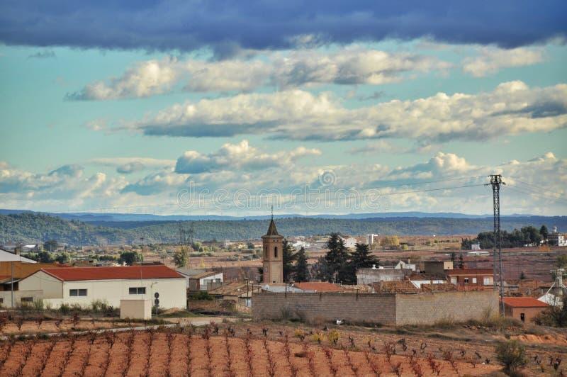 Landschaps kleine stad, Spanje royalty-vrije stock fotografie