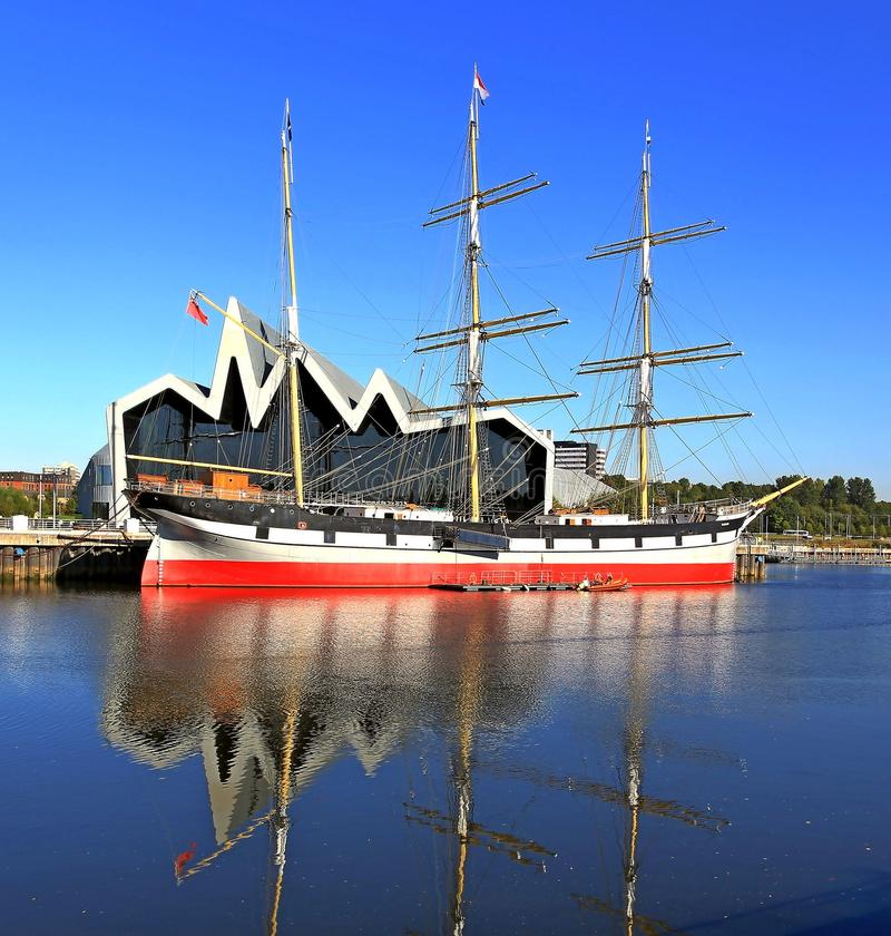 Landschaps lang schip Glasgow royalty-vrije stock afbeelding