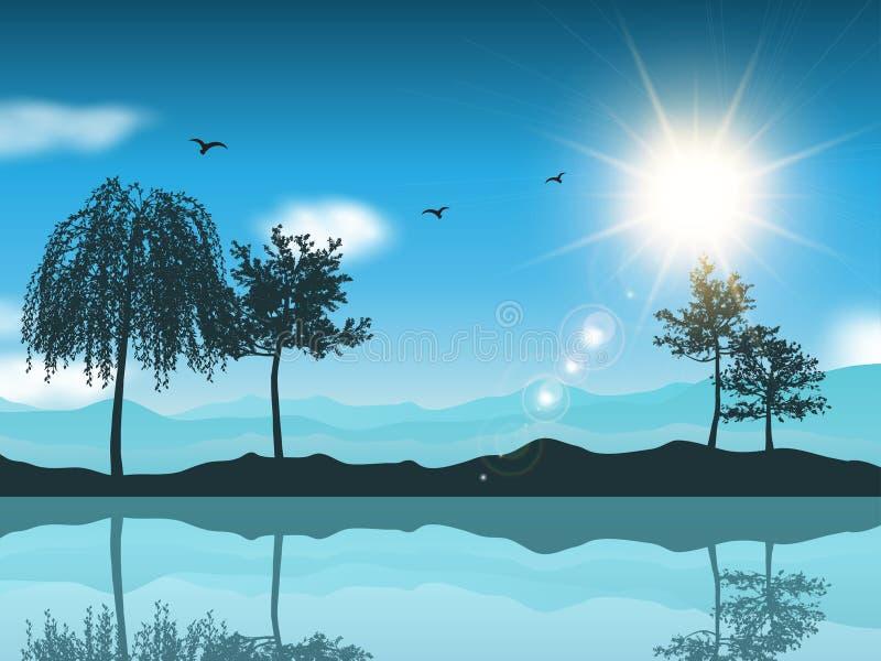 Landschapsachtergrond vector illustratie
