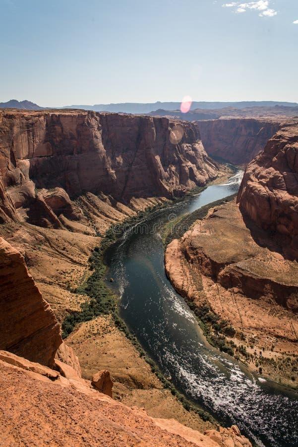 Landschapsbeeld van hoefijzerkromming in Pagina, Arizona royalty-vrije stock fotografie