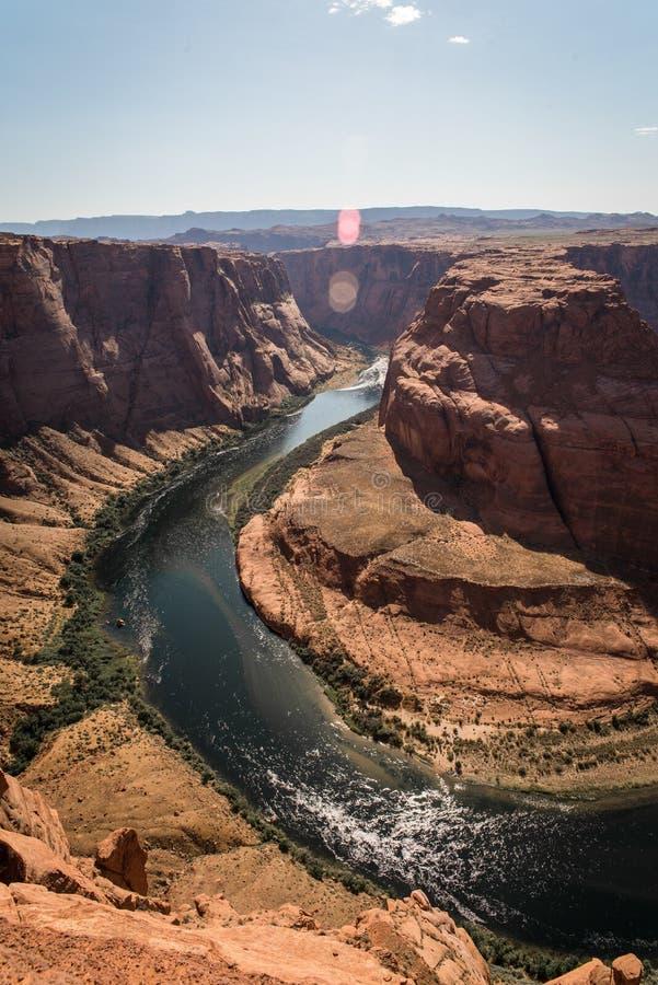 Landschapsbeeld van hoefijzerkromming in Pagina, Arizona royalty-vrije stock foto