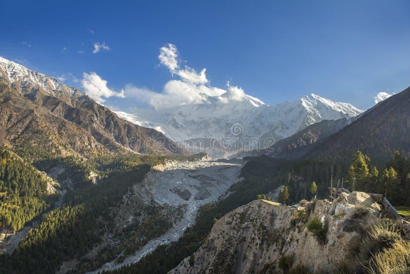 Landschapsfoto van Feeweiden, Gilgit, Pakistan stock fotografie