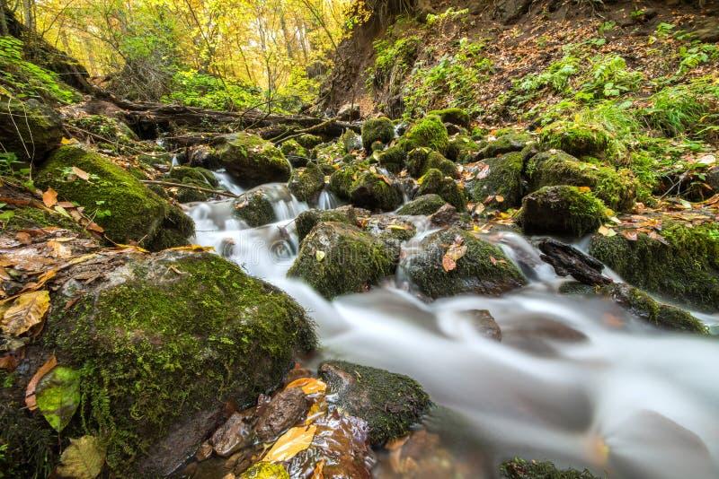 Landschapsfoto van yedigollerwatervallen royalty-vrije stock afbeeldingen