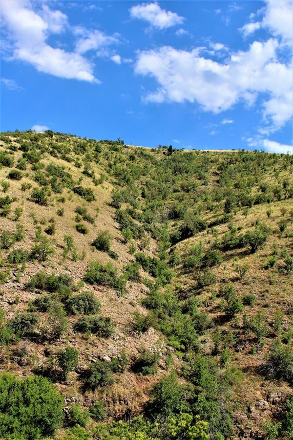 Landschapslandschap tussen Sedona en Jerome, Maricopa-Provincie, Arizona, Verenigde Staten royalty-vrije stock fotografie