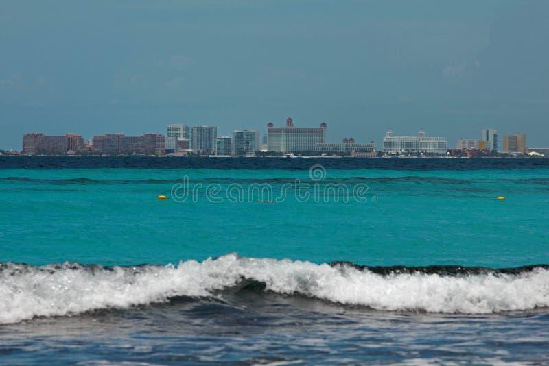 Landschapsmening van Cancun Mexico royalty-vrije stock afbeelding