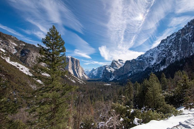 Landschapsmening van de Yosemite-Vallei stock foto's