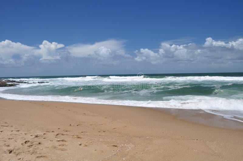 Landschapsmening van het strand van La Pedrera in Rocha, Uruguay royalty-vrije stock fotografie