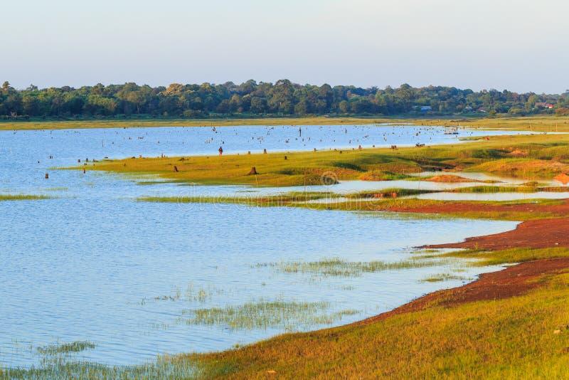 Landschapsmening van multifunctioneel reservoir, Irrigatieproject FO stock foto's