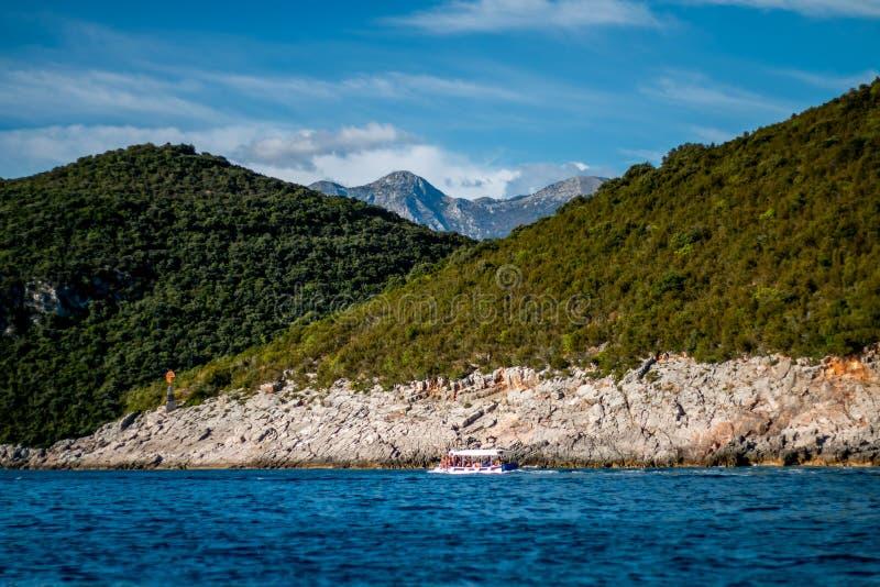Landschapsmontenegro overzeese oceaan royalty-vrije stock afbeelding