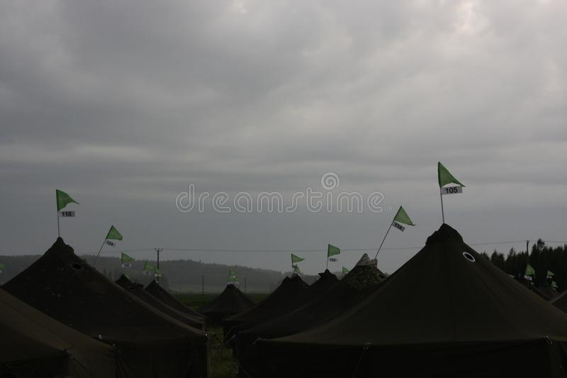 Landscpae с шатрами стоковое фото rf