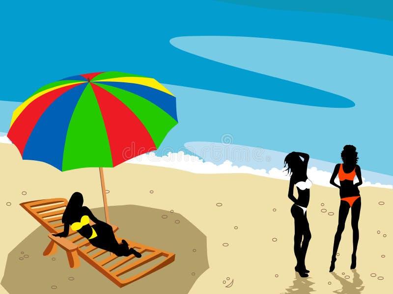 landsdape da praia ilustração do vetor