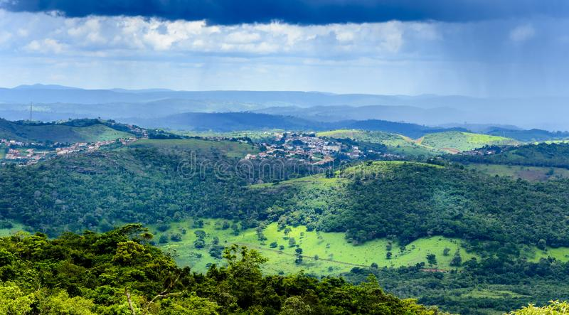 Landseite des Zustandes von Minas Gerais, Brasilien lizenzfreies stockfoto