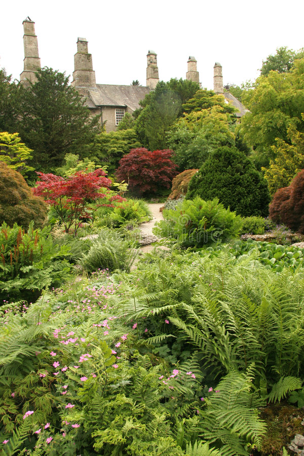 landsengelskaträdgård arkivfoto