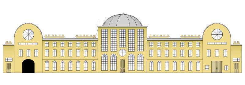 landshus vektor illustrationer