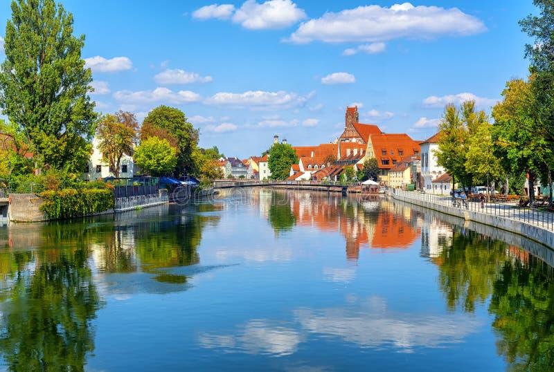 Landshut średniowieczny Stary miasteczko, Bavaria, Niemcy zdjęcie stock