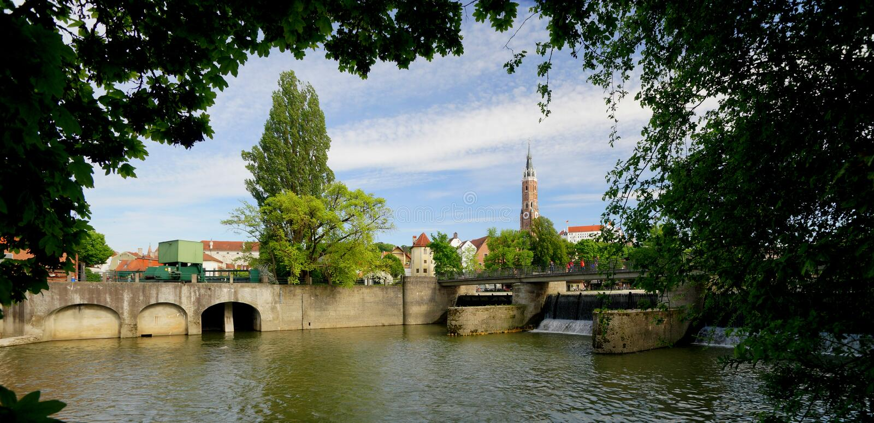 Landshut стоковая фотография rf