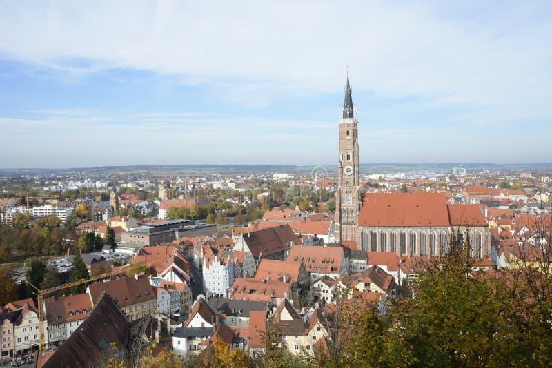 Landshut Cityscape arkivfoto