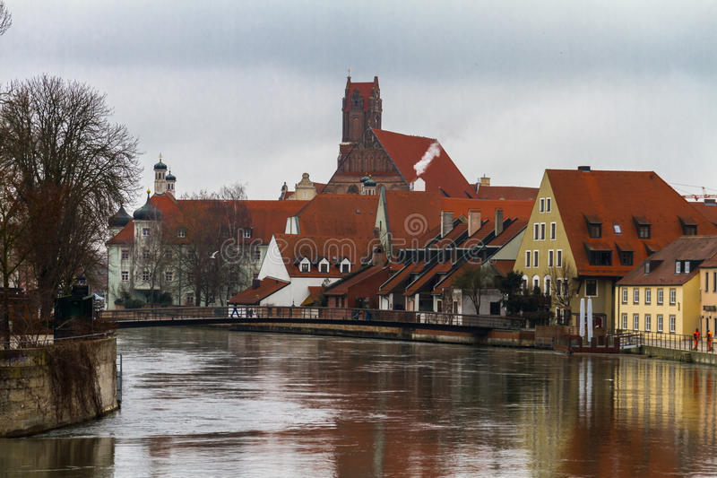 Landshut Isar royaltyfri bild