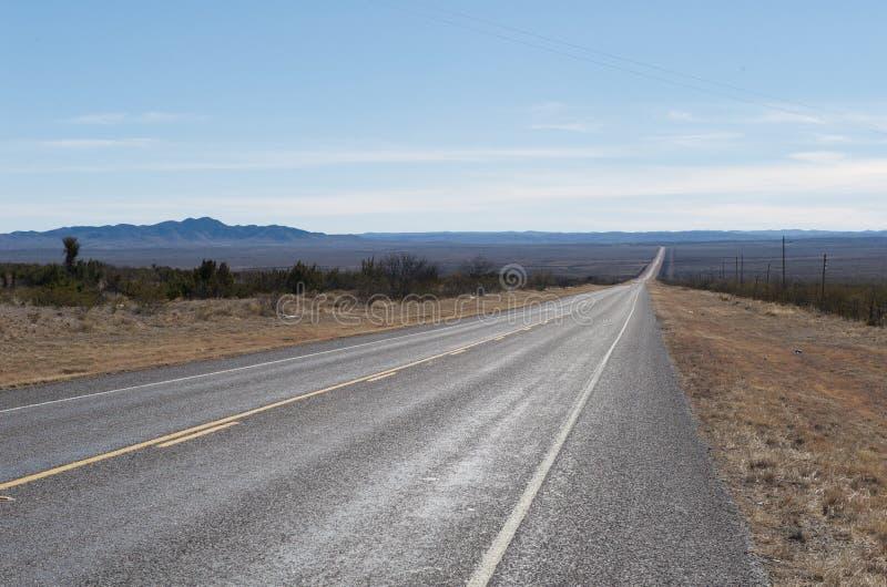 landshuvudvägkull öppna texas royaltyfria bilder