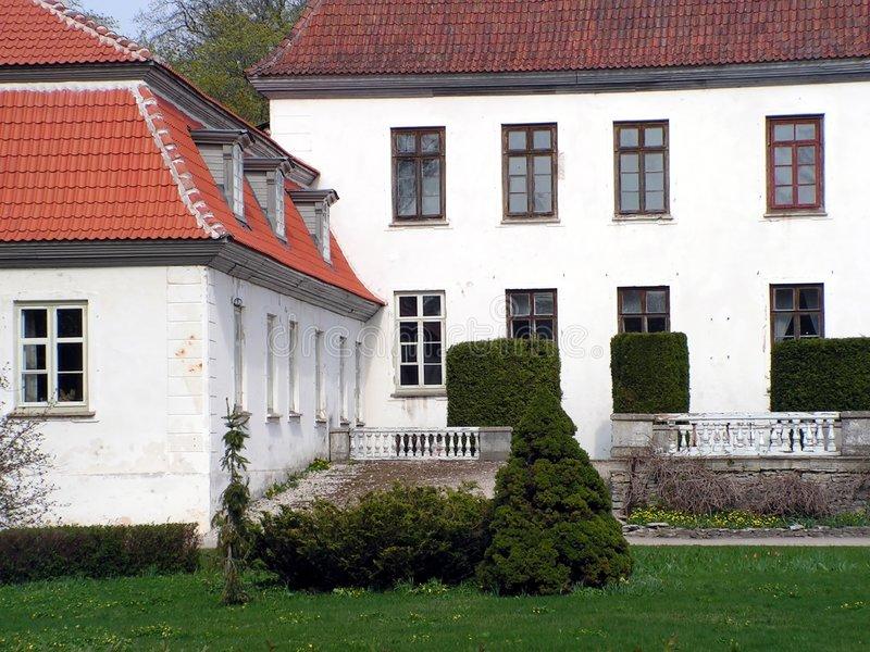 Landsitz-Hausdetail lizenzfreie stockfotografie