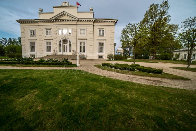 Landsitz nahe Trakai, Besuch schöne Europa-Plätze stockbild