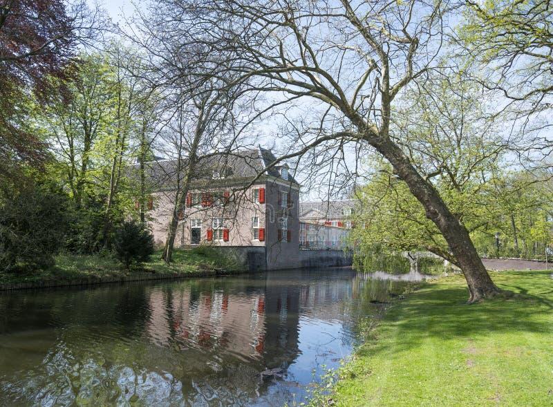 Landsitzschlitz zeist in den Niederlanden nahe Utrecht stockfotografie