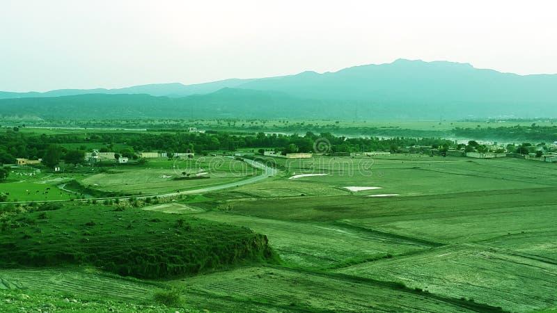 Landskap Abatabad royaltyfri bild