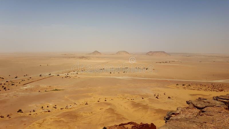 Landskap av öknen sahara Algeriet royaltyfri fotografi