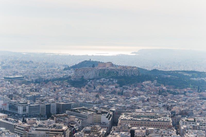 Landskap av Aten arkivbild