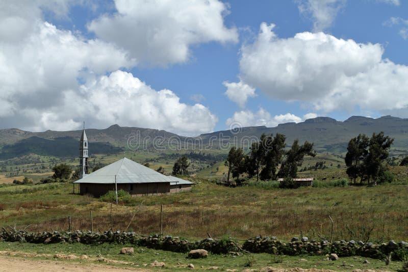 Landskap av balbergen i Etiopien arkivbild