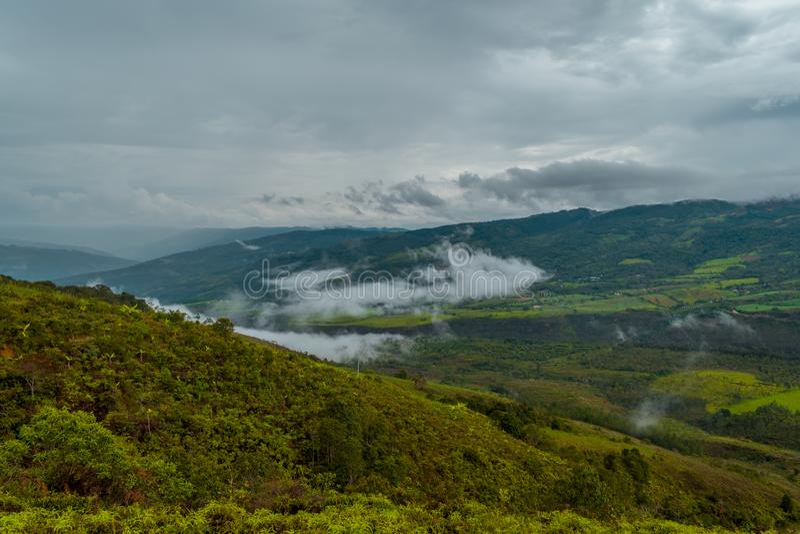 Landskap av bergen av Colombia arkivbilder