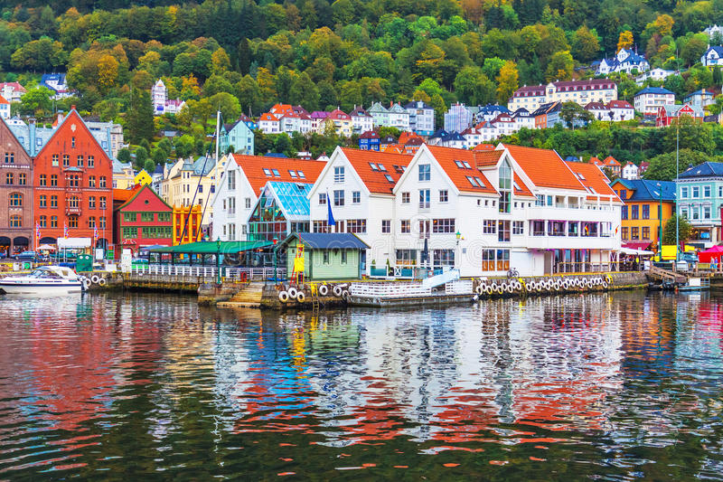 Landskap av Bergen, Norge