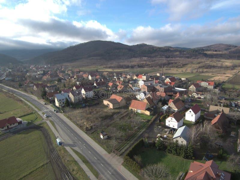Landskap av byn, något som är olikt royaltyfria foton